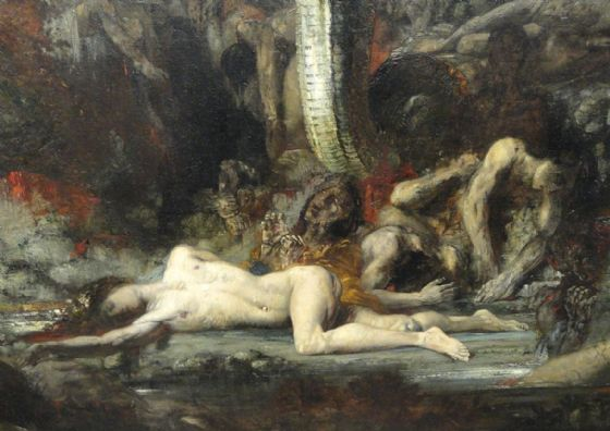 Moreau, Gustave: Hercules and the Lernaean Hydra (Detail). Fine Art Print/Poster (4925)